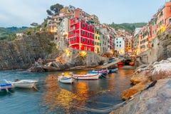 Riomaggiore, Cinque Terre, Liguria, italy obrazy royalty free