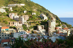 Riomaggiore Cinque Terre. Liguria. Sea and beach in Northern Italy, Cinque Terre, UNESCO SITE and Natural Reserve Stock Photography