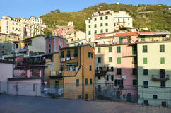 Riomaggiore Cinque Terre. Liguria. Sea and beach in Northern Italy, Cinque Terre, UNESCO SITE and Natural Reserve Royalty Free Stock Photo