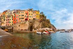 Riomaggiore, Cinque Terre, Liguria, Włochy zdjęcie stock