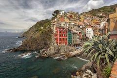 Riomaggiore, Cinque Terre, Ligurie, Italy Photos stock