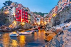 Riomaggiore, Cinque Terre, Ligurie, Italy photos libres de droits