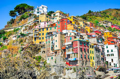 Riomaggiore, Cinque Terre, Mediterranean Se in Italy Royalty Free Stock Photo