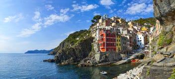 Riomaggiore in Cinque Terre National Park on Italian Riviera Royalty Free Stock Photography
