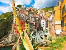 Riomaggiore, Cinque Terre National Park, Liguria, La Spezia Fotografia Stock
