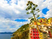 Riomaggiore, Cinque Terre National Park, Ligurien, La Spezia Stockbilder