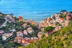 Riomaggiore, Cinque Terre park narodowy, Liguria, Włochy Obraz Stock