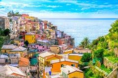 Riomaggiore, Cinque Terre park narodowy, Liguria, Włochy Obrazy Royalty Free