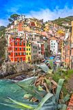 Riomaggiore, Cinque Terre park narodowy, Liguria, Włochy Obrazy Stock