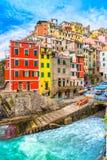 Riomaggiore, Cinque Terre park narodowy, Liguria, Włochy Fotografia Royalty Free