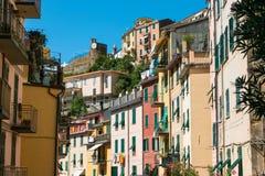 Riomaggiore, Cinque Terre, Tuskany Stock Images