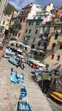 Riomaggiore Cinqueterre, Italia Arkivfoton