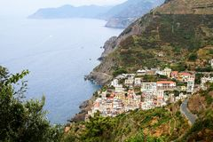 Riomaggiore coast Stock Photos