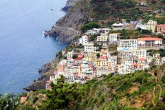 Riomaggiore coast Royalty Free Stock Photography