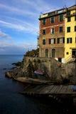 Riomaggiore dans le nord de l'Italie Images libres de droits
