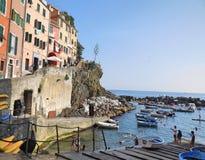 Riomaggiore de Cinque Terre Imagem de Stock