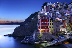 Riomaggiore in the evening, Italy Royalty Free Stock Photography