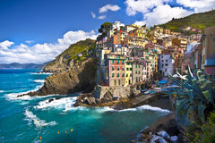 Riomaggiore fisherman village in Cinque Terre Royalty Free Stock Photography
