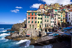 Riomaggiore fisherman village in Cinque Terre Royalty Free Stock Photography