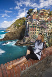 Riomaggiore fisherman village in Cinque Terre Stock Photo