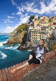 Riomaggiore fisherman village in Cinque Terre Royalty Free Stock Photo