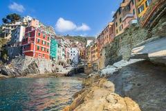 Riomaggiore fisherman village in Cinque Terre, Italy Royalty Free Stock Photography