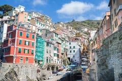 Riomaggiore fisherman village in Cinque Terre, Italy Stock Image
