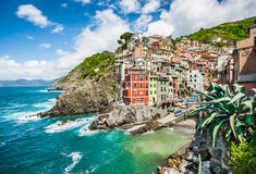 Riomaggiore fisherman village, Cinque Terre, Liguria, Italy Royalty Free Stock Photos