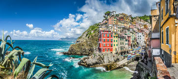 Riomaggiore fisherman village in Cinque Terre, Liguria, Italy Stock Photos