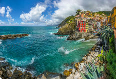Riomaggiore fisherman village in Cinque Terre, Liguria, Italy Royalty Free Stock Photos