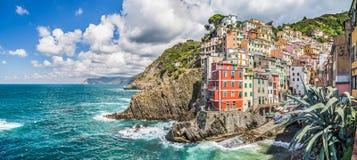 Riomaggiore fisherman village in Cinque Terre, Liguria, Italy Stock Photography