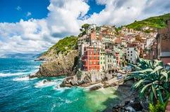 Riomaggiore fisherman village in Cinque Terre, Liguria, Italy Royalty Free Stock Photography