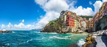 Riomaggiore fisherman village in Cinque Terre, Liguria, Italy Royalty Free Stock Photo