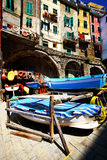 Riomaggiore harbor, Cinque Terre, Italy Stock Photo