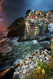 Riomaggiore harbor, Cinque Terre, Italy Stock Images