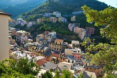 Riomaggiore hillside Royalty Free Stock Image