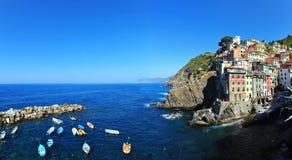 Riomaggiore in Italië Royalty-vrije Stock Afbeelding