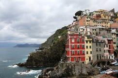 Riomaggiore, jeden Cinque Terre wioski, Włochy Zdjęcie Royalty Free