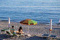 Riomaggiore-Küstenlandschaft Stockbild