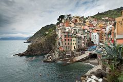 Riomaggiore, liguria. Riomaggiore, 5 terre, italy, once a fishing village, is now protected by unesco as world heritage Royalty Free Stock Photos