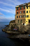 Riomaggiore in the north of italy Royalty Free Stock Images