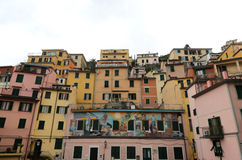 Riomaggiore, one of the Cinque Terre villages, Italy Stock Images