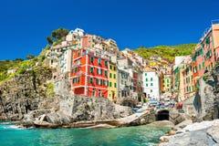 Riomaggiore, parque nacional de Cinque Terre, Italia Imagenes de archivo