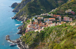 Riomaggiore province of La Spezia, Liguria, Italy. Royalty Free Stock Images