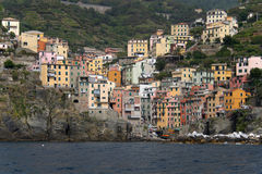 Riomaggiore from the sea Royalty Free Stock Images