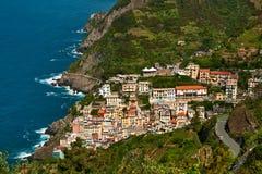 Riomaggiore, top view Stock Photography
