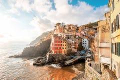 Riomaggiore town in Italy Stock Photography