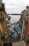 Riomaggiore, un des villages de Cinque Terre, l'Italie Images libres de droits