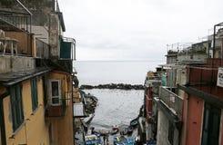 Riomaggiore, un des villages de Cinque Terre, l'Italie Image libre de droits