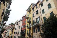 Riomaggiore, un des villages de Cinque Terre, l'Italie Images stock